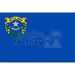 vector state Flag of Nevada clipart. Commercial use image # 384576