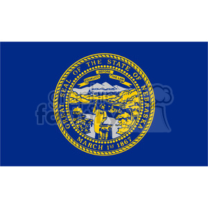 vector state Flag of Nebraska clipart. Royalty-free image # 384581