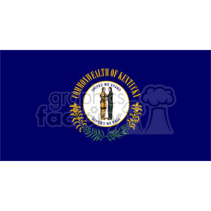 vector state Flag of Kentucky clipart. Royalty-free image # 384586