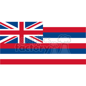 vector state Flag of Hawaii clipart. Commercial use image # 384591