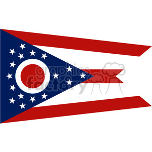 vector state Flag of Ohio clipart. Royalty-free image # 384596
