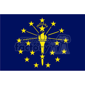 vector state Flag of Indiana clipart. Royalty-free image # 384601