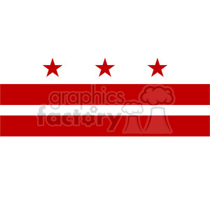 vector state Flag of Washington DC clipart. Royalty-free image # 384621