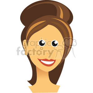 vector-girl-big-eyes clipart. Commercial use image # 384626