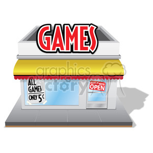 games store clipart. Royalty-free image # 384641