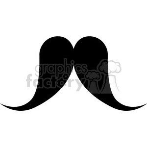 fancy mustache clipart. Royalty-free image # 384646