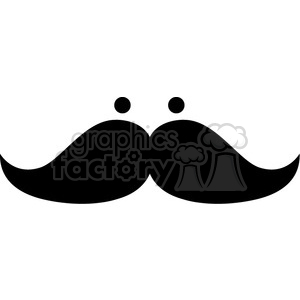 mustache with eyes clipart. Royalty-free image # 384661