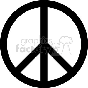vector RG cartoon peace peaceful symbol vinyl-ready
