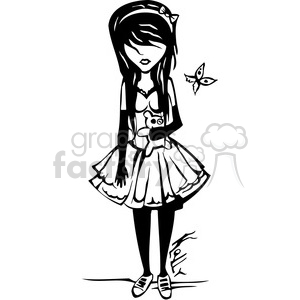 goth girl clipart. Commercial use image # 384761