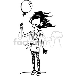 balloon girl clipart. Commercial use image # 384771