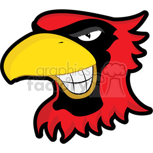 cardinal mascot showing teeth clipart. Royalty-free image # 384808