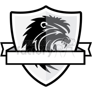 shield with lion emblem clipart. Commercial use image # 384818