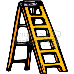yellow ladder clipart. Commercial use image # 384940