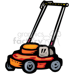 push lawnmower clipart. Royalty-free image # 384990