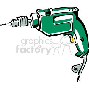 vector tools hardware cartoon electric drill