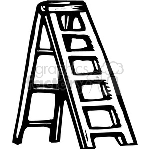 black and white ladder clipart. Commercial use image # 385020