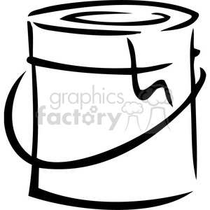 vector tools hardware black white cartoon paint can gallon