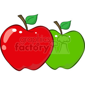 12931 RF Clipart Illustration Apples clipart. Royalty-free image # 385060