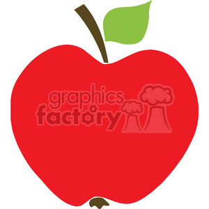 129112 RF Clipart Illustration Red Apple clipart. Royalty-free image # 385120