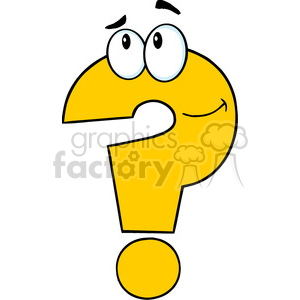 cartoon funny education school learning character happy question mark help