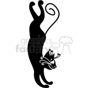 vector clip art illustration of black cat 099 clipart. Royalty-free image # 385330