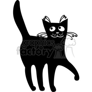 vector clip art illustration of black cat 037 clipart. Royalty-free image # 385360