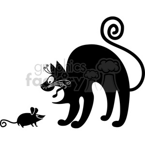 vector clip art illustration of black cat 076 clipart. Royalty-free image # 385370