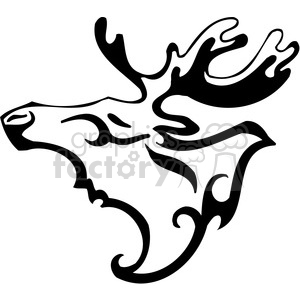 wild moose clip art 092 clipart. Royalty-free image # 385440
