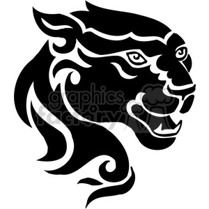 vector black+white animals wild outline vinyl-ready panther cat tattoo