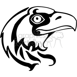 vector black+white animals wild outline vinyl-ready bird hawk tattoo
