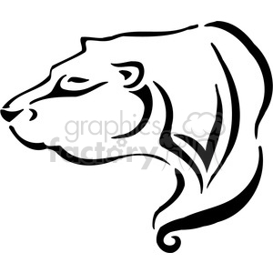bear logo element clipart. Royalty-free image # 385490