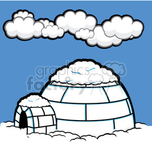 vector igloo 009 clipart. Royalty-free image # 385520