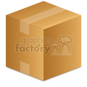 large closed box clipart. Royalty-free image # 385570
