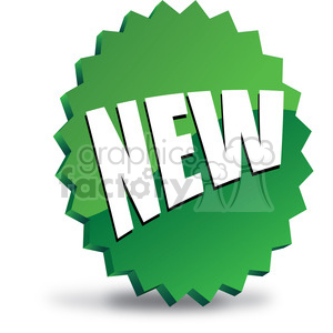 NEW-icon-image-vector-art-green 002 clipart. Royalty-free image # 385590