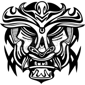 ancient tiki face masks clip art 009 clipart. Royalty-free image # 385826