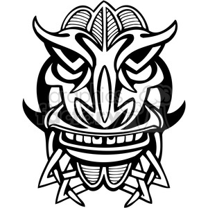 ancient tiki face masks clip art 024 clipart. Royalty-free image # 385835