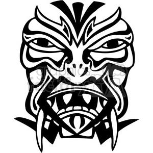 ancient tiki face masks clip art 007