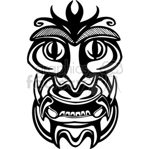 ancient tiki face masks clip art 027 clipart. Royalty-free image # 385863