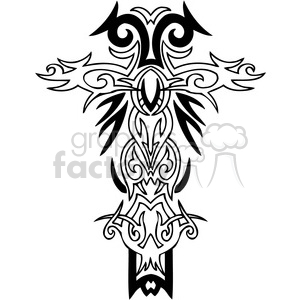 cross clip art tattoo illustrations 036 clipart. Royalty-free image # 385871