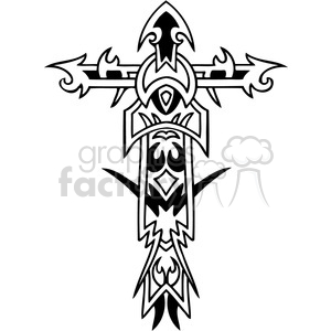 cross clip art tattoo illustrations 047 clipart. Commercial use image # 385881