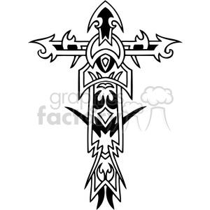 cross clip art tattoo illustrations 047