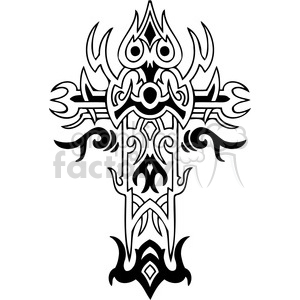 cross clip art tattoo illustrations 025 clipart. Royalty-free image # 385891