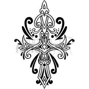 cross clip art tattoo illustrations 007 clipart. Commercial use image # 385901