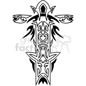 cross clip art tattoo illustrations 046 clipart. Royalty-free image # 385911