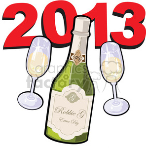 2013 New Year celebration clipart. Commercial use image # 385973