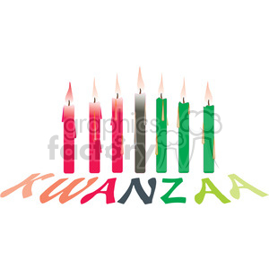 Candles setup for kwanzaa clipart. Commercial use image # 145053