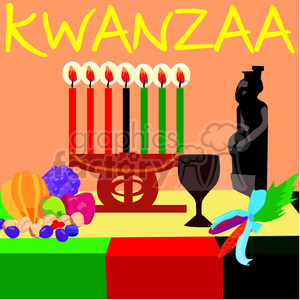 Kwanzaa setting clipart. Commercial use image # 145010
