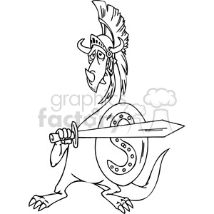 funny cartoon dragons 030 clipart. Royalty-free image # 385995