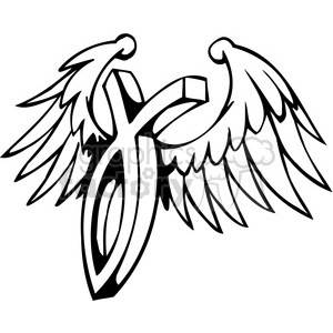 christian religion wings 100 clipart. Royalty-free image # 386025