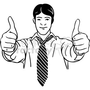 business two thumbs up 044 clipart. Royalty-free image # 386035